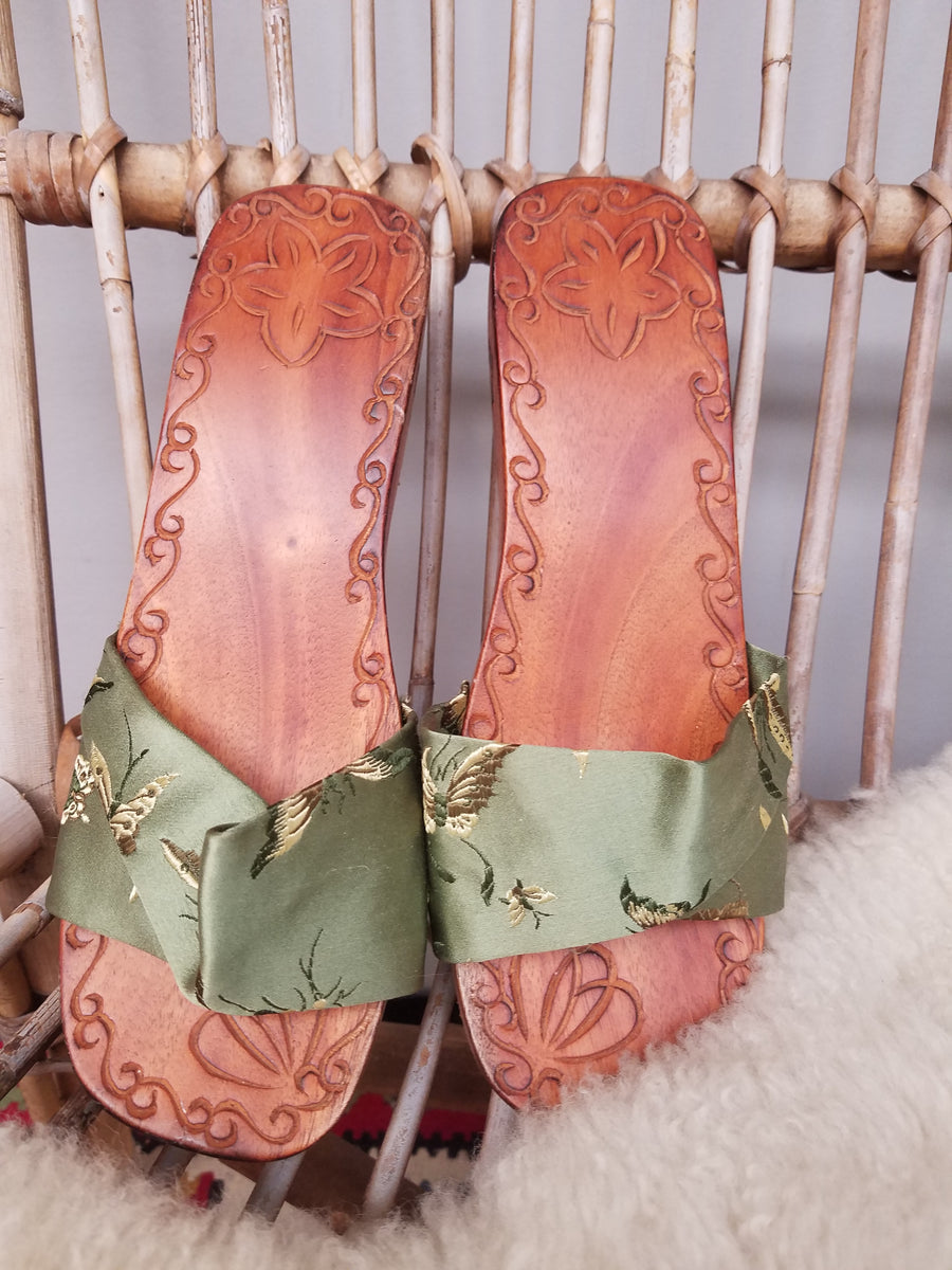 Wooden clogs size 7