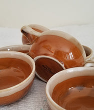 Set of 6 Japanese Glazed Clay serving dishes