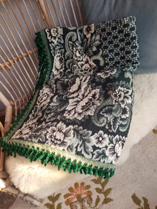 Retro brocade throw