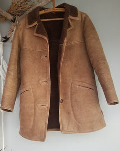 Sheepskin shearling coat mens or womans