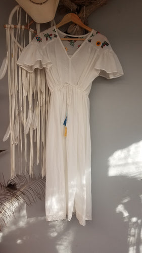 Vintage Cotton embroidered Dress size S