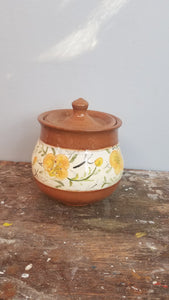 clay glazed pot