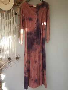 Navaja indian maxi dress vintage size M