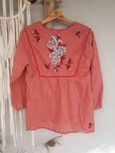 Foundling embroidered blouse