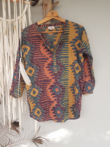 Anokhi aztec shirt Small