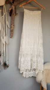 Spell Ophelia Maxi Lace Skirt  Size XS