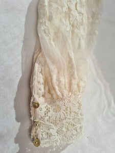 Spell DAWN LACE BELTED MIDI DRESS Cream size S BNWT