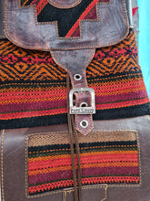 Kilim leather backpack