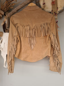Pioneer leather fringe vintage jacket size 12