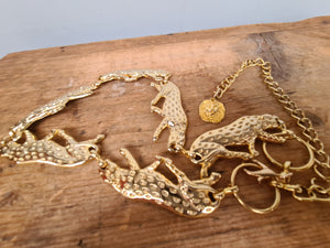 Vintage gold panther solid chain belt as seen on CU models..
