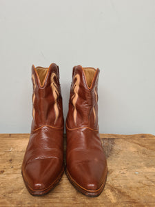 Western leather Ankle boots size 8