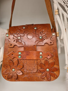 Vintage 60s leather bag
