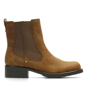 Clarks Women's Orinoco Club Leather Chelsea Boots - Tan Brown