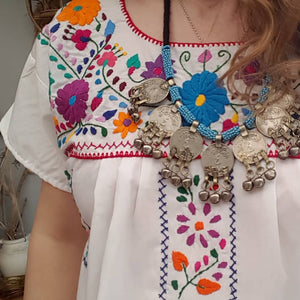 Tibetan coin beaded necklace