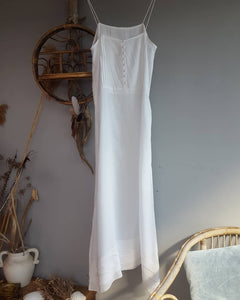 white Vintage bohemian dress size 10
