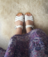 Windsor Smith white leather wooden clog sandals size 7