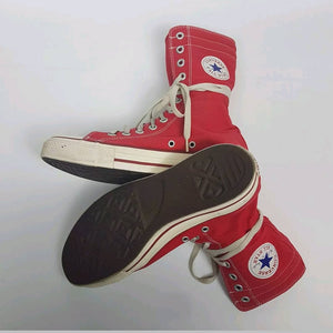 Red Converse High Tops Size 9 us 7 uk 40