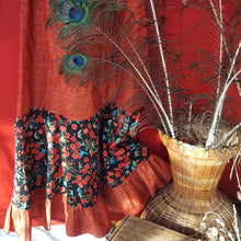 Red Mexican floral dress Size S