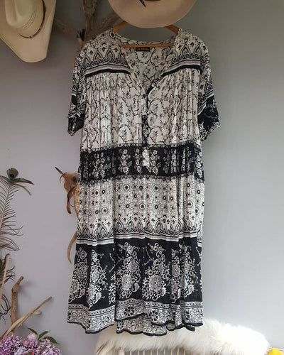 Vintage ethnic cotton summer dress