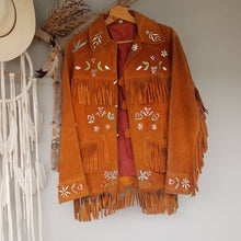 Native American hand painted jacket size M/L