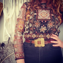 Embroidered vintage Top Size S