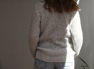 Grey knit turtle neck jumper size S/M