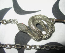 Amazing vintage unique snake chain belt one size
