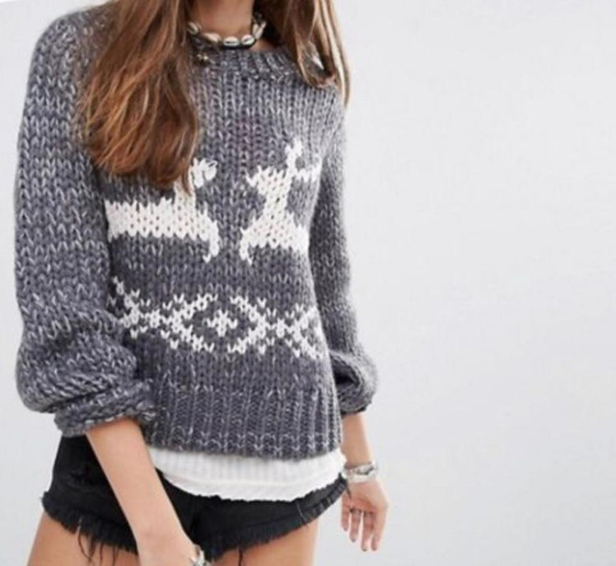 Free people chunky woman's jumper Size L.