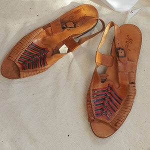Vintage Indian Leather sandals size 10