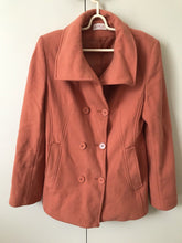 Sakura Wool Blend Coat Jacket SiZe 10 Soft Earthy Orange