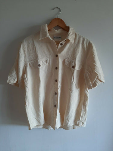 Vintage Jacqueline Eve Shirt MEDIUM Blouse 100% Silk shirt