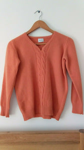 United colours of benetton 100% Lambs Wool Orange Jumper