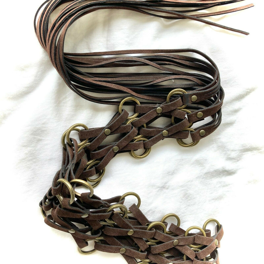 Bohemian Dark brown Suede Tassels belt