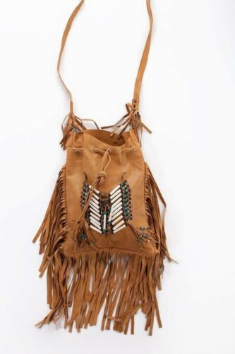 spell and the gypsy Bone Tassel Leather Vintage Bag