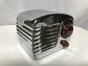 1949 Arvin 341-T Chrome Tube Radio With Bluetooth input.
