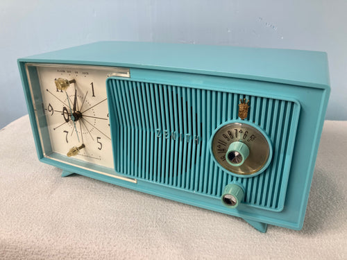Zenith E514B Turquoise Tube Radio With Bluetooth input