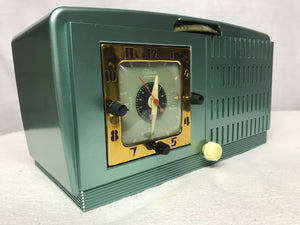 General Electric model 867 Tube Radio With Bluetooth input.