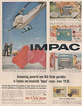 RCA P-131 Portable Tube Radio With Bluetooth input.