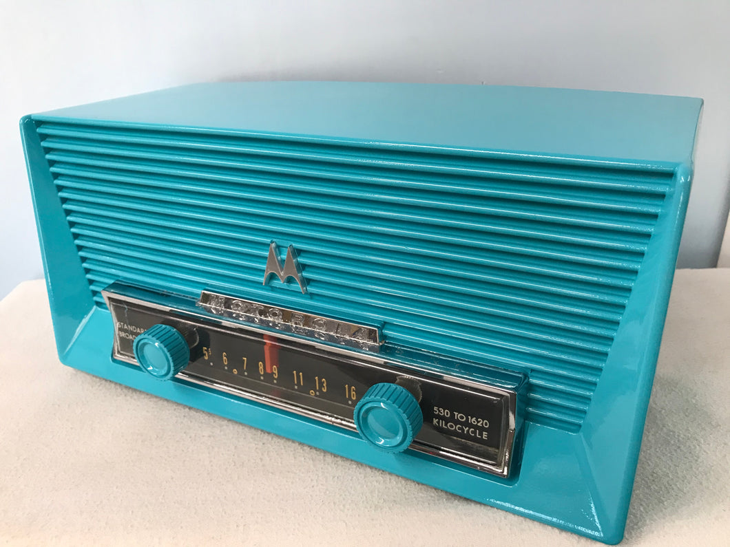 Motorola 56X Tube Radio With Bluetooth input.