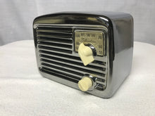 Chrome Silvertone Midget Tube Radio With Bluetooth input.