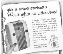 1945 Westinghouse H-126 Refrigerator or Little Jewel Tube Radio With Bluetooth input.