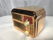 Copper Silvertone Midget Tube Radio With Bluetooth input.