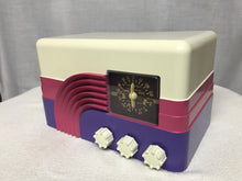 Northern Electric model 5002 Rainbow  Baby Champ vintage retro tube radio with iphone or bluetooth Input.