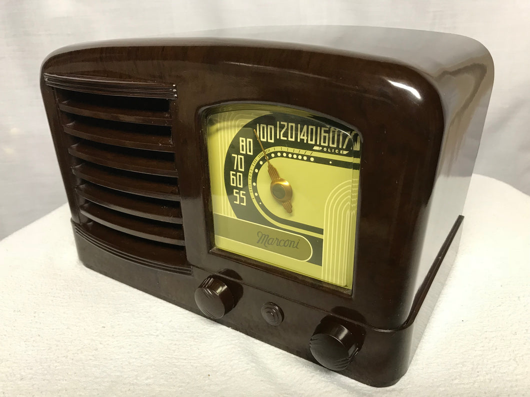 Marconi 218 Tube Radio With Bluetooth input.