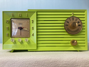 Gorgeous Philips Model 477 Clock Radio