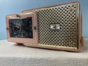 Stunning 1957 Pink Bulova Model 120 Tube Radio