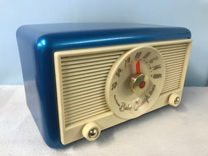"Northern Electric 1951 ""Baby Champ "" Tube Radio With Bluetooth input."