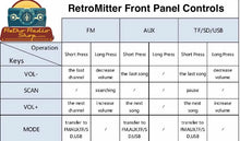 """RetroMitter"" FM to AM Converter AM Transmitter MP3 Decoder With Bluetooth For Retro Vintage Or Antique Radios"