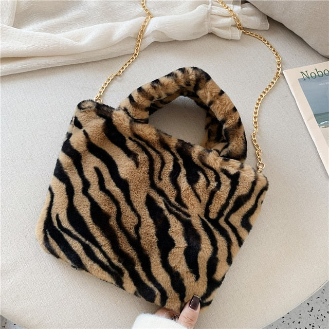 Faux Fur Bag - Lavish Outfitters