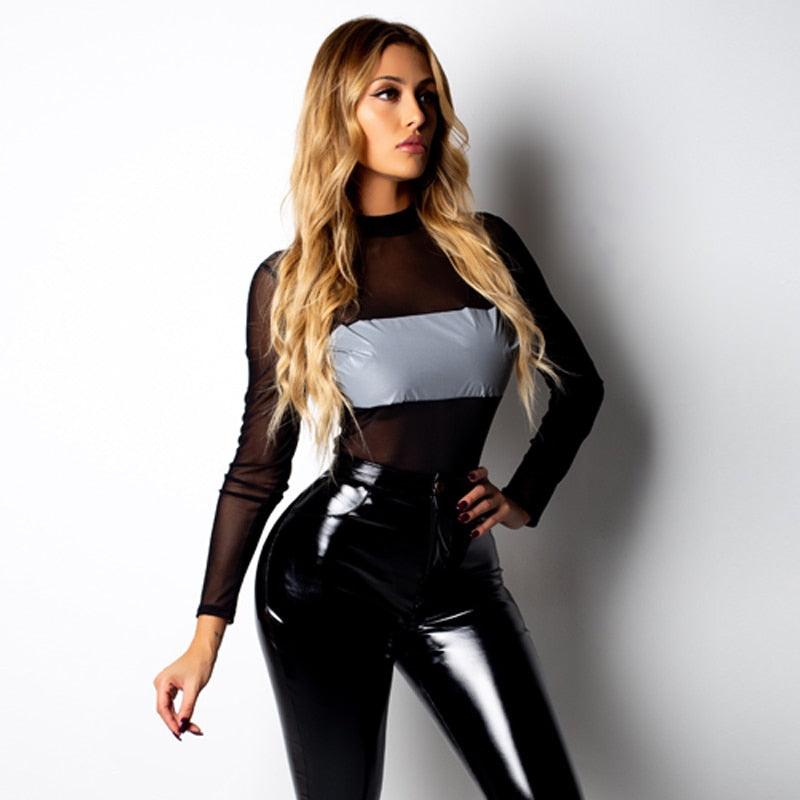 Reflective Bodysuit - Lavish Outfitters